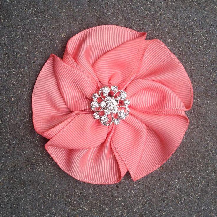25 best ideas about ribbon flower on pinterest satin. Black Bedroom Furniture Sets. Home Design Ideas