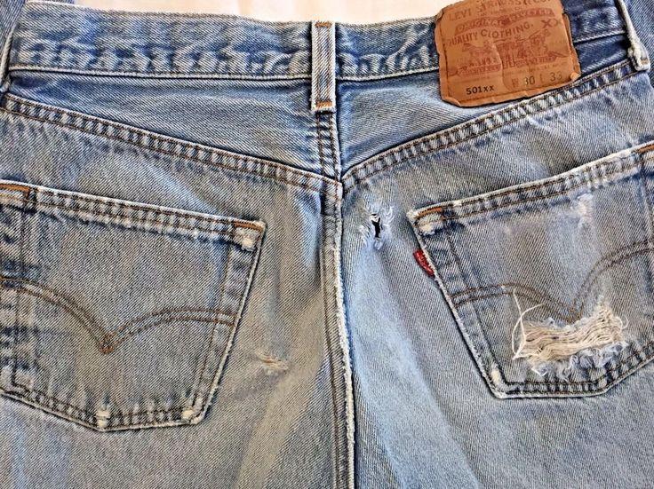 501xx Levi Jeans 26 x 29 USA Thrashed Distressed Destroyed Levis 501s Unisex   #Levis #501