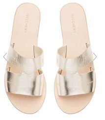 Fashion - Gold Slip On's - Witchery