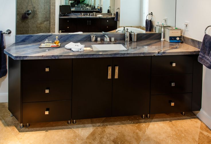 #bathroom #counter #countertop #luxury #vanity #blue #bluebahia #granite #southflorida #bocaraton #delraybeach #natureofmarble
