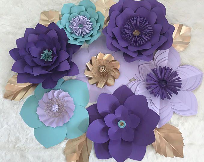 Flores de papel personalizar su pedido