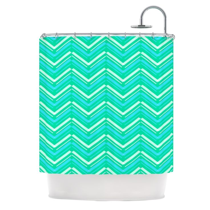 "Kess InHouse CarolLynn Tice ""Symetrical"" Teal Turquoise Shower Curtain"