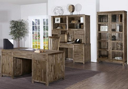 Rustic Acacia Home Office SKU: WO2080  Featuring a unique taupe wire brushed finish with warm undertones.The Upper Room Home Furnishings, Ottawa's Premier Home Furniture Store.