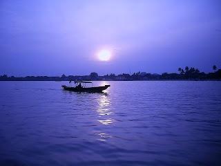 Musi river, Palembang Indonesia   Violet diamond of Royal Kingdom