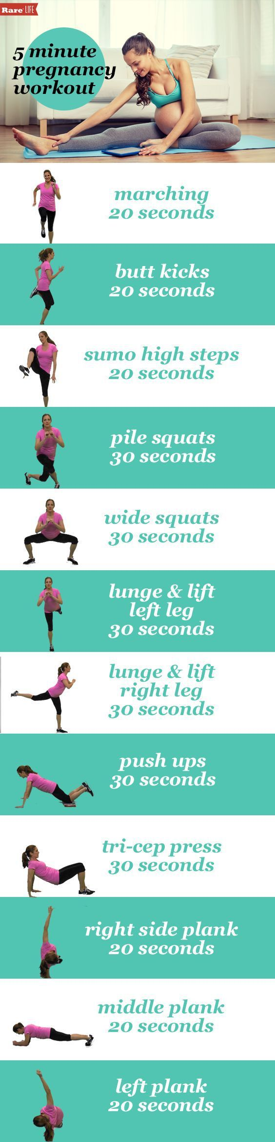 Heather's Maternity Workout: 5 minute strength workout