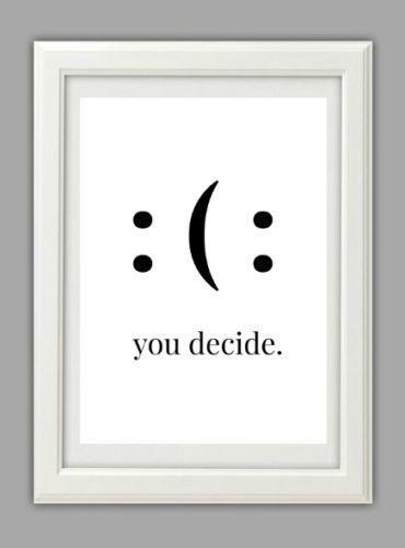 Lebensstil Fine Art Print Bild sagen Typografie Motivation Lächeln Geschenk, #dru