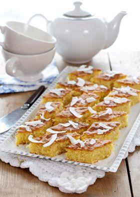 Kage: Kokosdrømme med æble og citronsaft