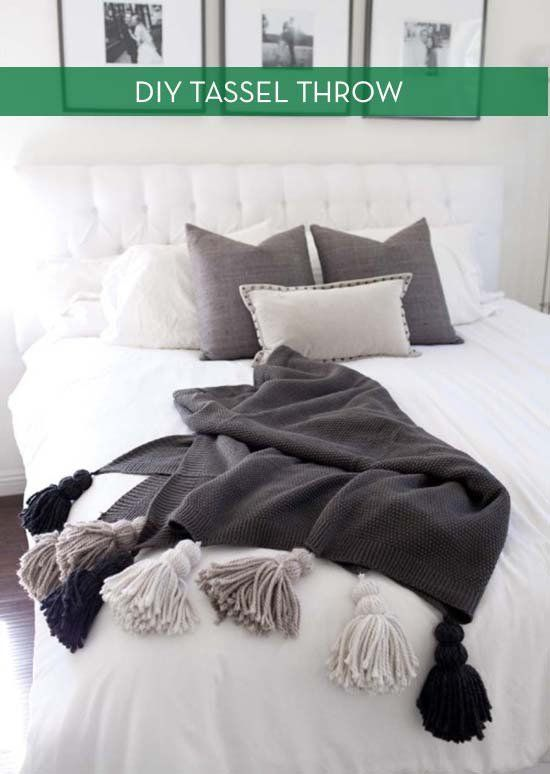 How To: Make A Chunky Tassel Blanket » Curbly | DIY Design Community