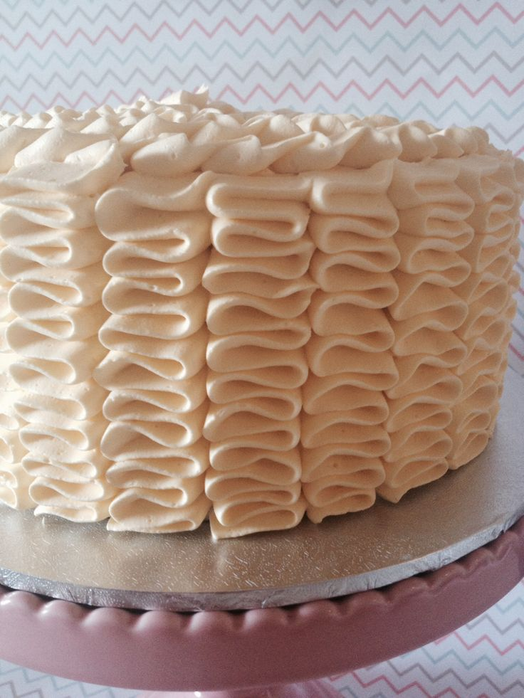 Limoncello Ruffle Cake www.crumbsbakery.com.au