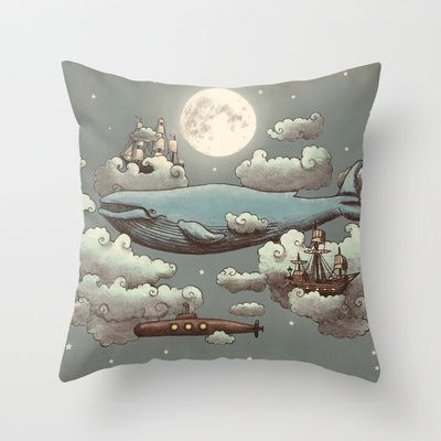 Ocean Meets Sky Throw Pillow by Terry Fan