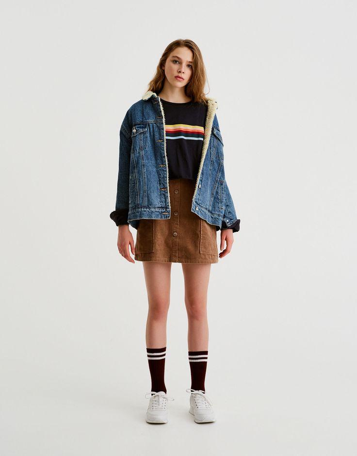 T-shirt arc-en-ciel manches longues - T-shirts - Vêtements - Femme - PULL&BEAR France