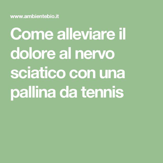 Come alleviare il dolore al nervo sciatico con una pallina da tennis