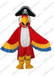 Costume de Mascotte de perroquet rouge avec une qu...