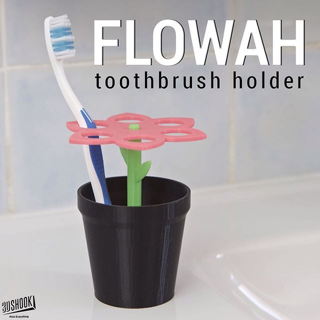"@3dshook's photo: ""Separate your toothbrushes in a sweet way - parts can be easily taken apart and cleaned! Check us out at 3DShook.com #3dmodel #3dprint #3dshook #3dprinting #bathroom #giftideas #instagood #PrintEverything #tech #technology #homedecor #interiors"""