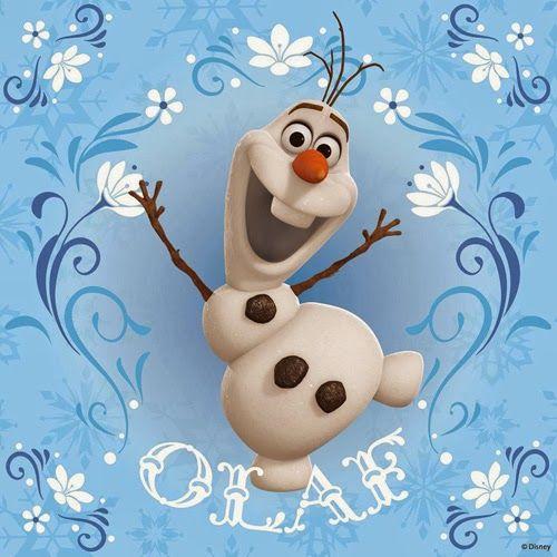 Olaf es el muñeco de nieve que le gusta dar abrazos