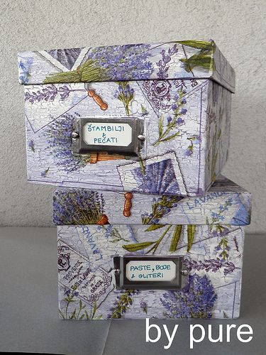 decoupage boxes