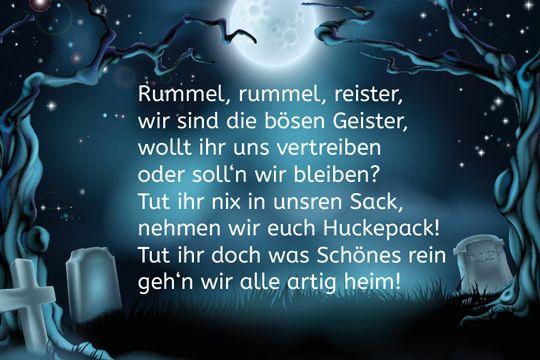"""Wir haben lustige Sprüche zu Halloween gesammelt, z. B.: """"Rummel, rummel, reister, wir sind die bösen Geister, wollt ihr uns vertreiben oder soll'n wir bleiben?"""" © Thinkstock"""