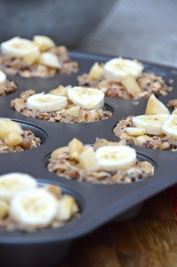 Apple Banana Quinoa Breakfast Cups | 24 Delicious Ways To Eat Quinoa For Breakfast Are you interested in taking control of your health naturally? doTERRA essential oils can help! Purchase yours here www.mydoterra.com/blendsforhealth Get off the prescriptions and over the counter medicines for #anxiety, #depression, #stress, sleeping problems, digestive issues and more! #naturalliving #healthy