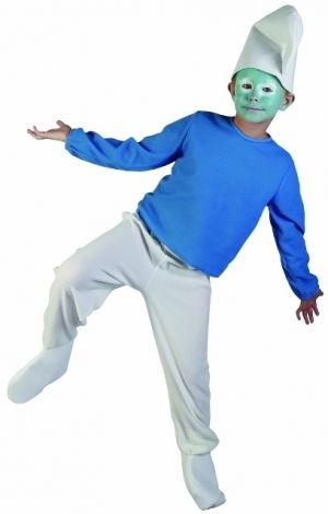 Smurf fancy dress costume