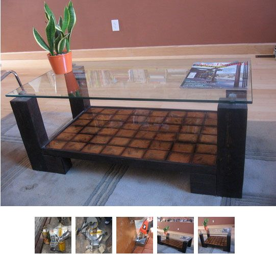 Make A Reclaimed Wood Coffee Table: How To: Make A Coffee Table From Reclaimed Wood