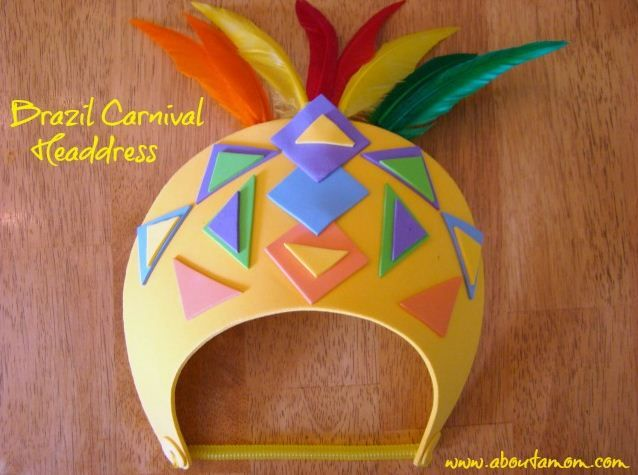 @Laura and Angela creates the Passport to Imagination Brazil Carnival Headdress #craftysummer