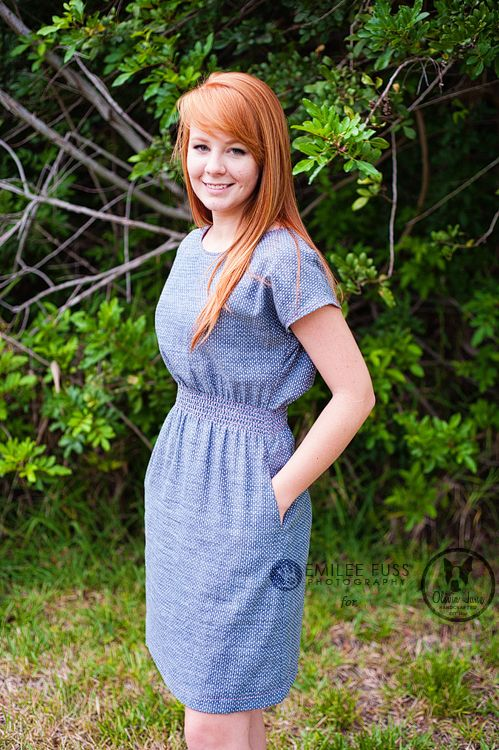 April Rhodes staple dress in chambray