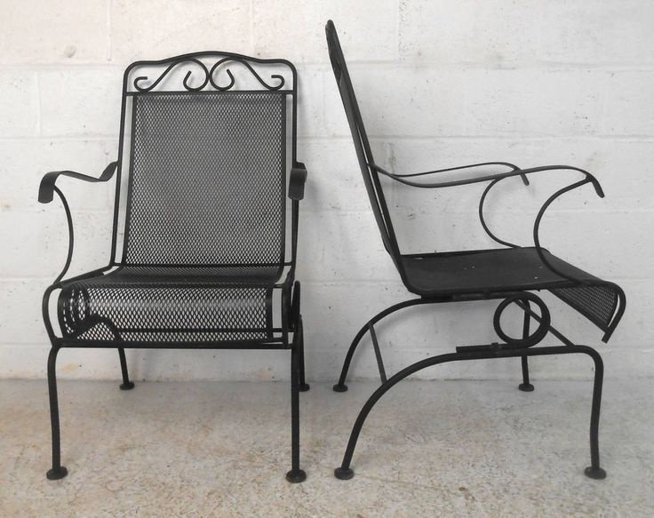set of ornate cast iron patio chairs - Cast Iron Patio Furniture