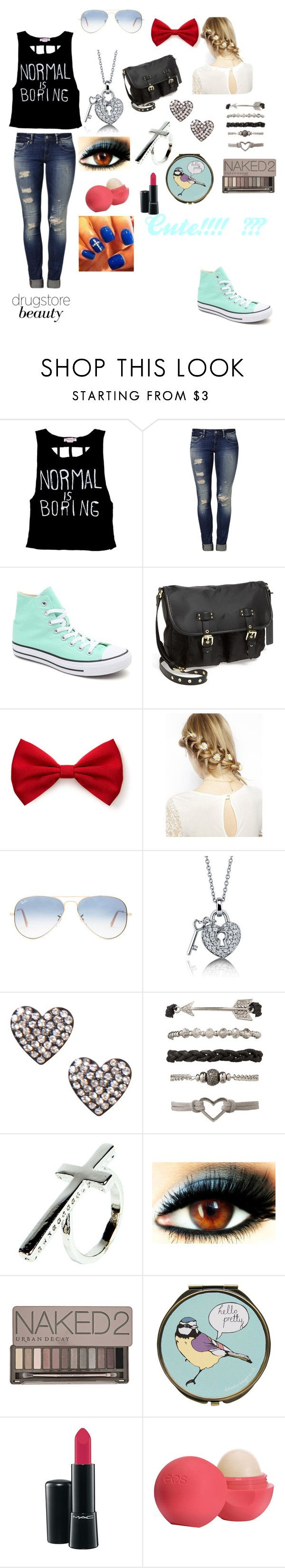 """CUTE OUTFIT 4 2MORROW!!!"" by lalagirl27-1 ❤ liked on Polyvore featuring Mavi, Converse, Steve Madden, Forever 21, ASOS, Ray-Ban, BERRICLE, Boohoo, Urban Decay and MAC Cosmetics"