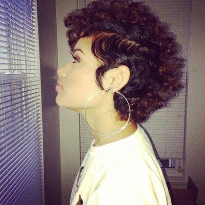 natural curly hair mohawk haircut hair pinterest