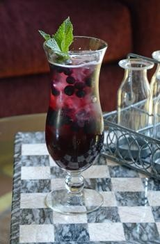 Blueberry Pomegranate Sangria | Barefoot Wine & Bubbly made with Red Moscato. tried the Red last night for the first time and I will be going to get more of it,,,delicious.