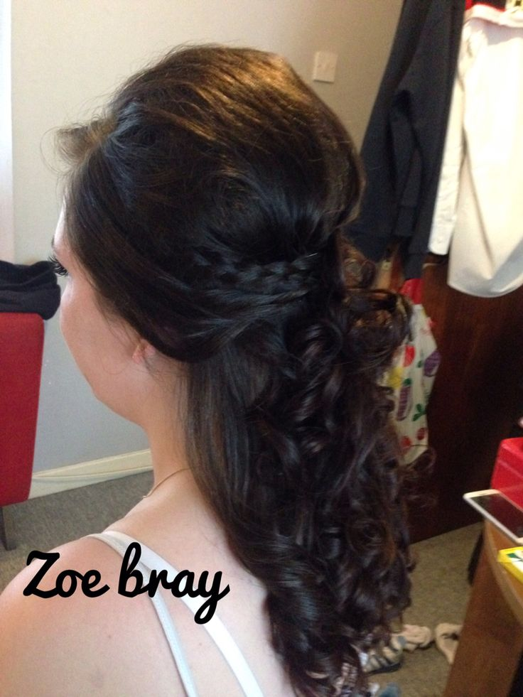 Hair up Prom Bridal