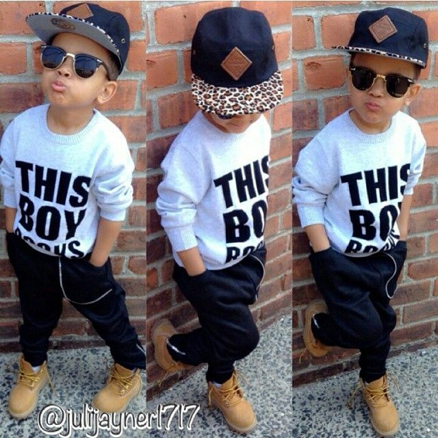 "this little boy got ""SWAG"" 