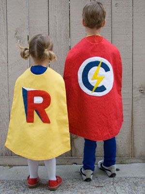 DIY Superheroes costume- minimal supplies needed!