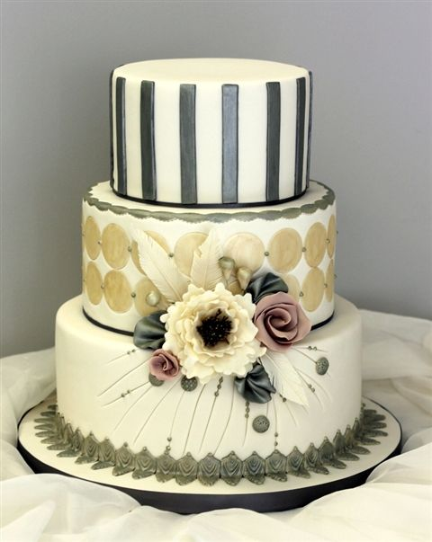 An amazing cake for anyone with a love for art deco.