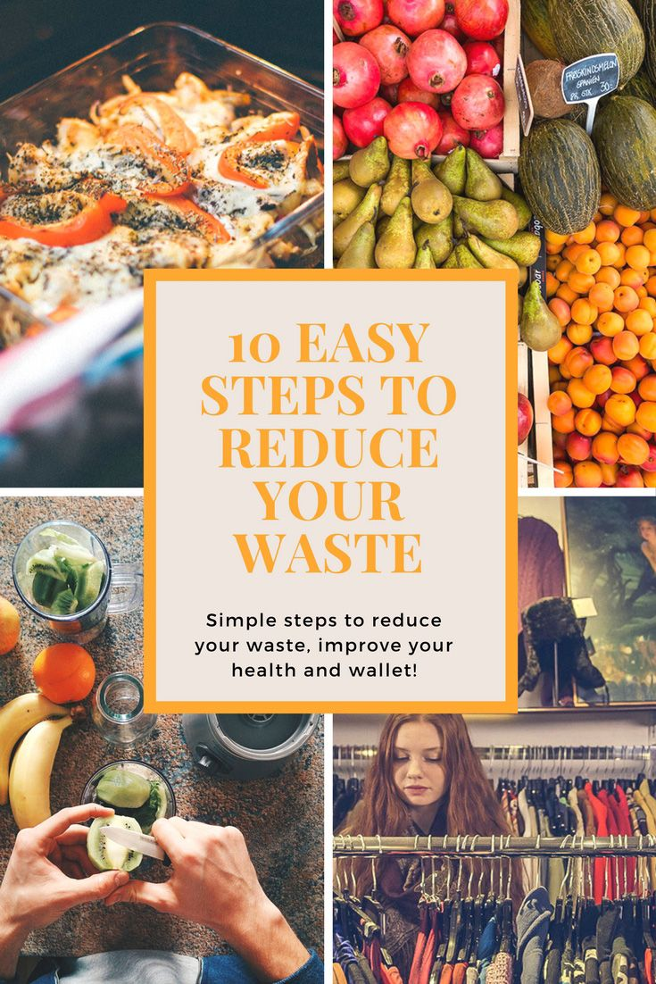 10 easy steps to reduce your waste - small changes with a big effect + save money and improve your health #reducewaste #sustainability #zerowaste #frugal #waste