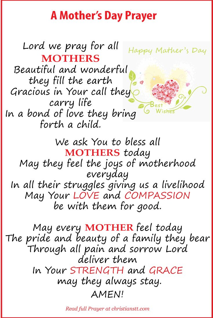 A Mother's Day Prayer Happy Mothers Day To All Of My Followers. As well for the mothers to be ! Blessings to you all . Barbie Sioux Cherokee