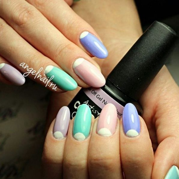 Pastel Nail Art using Artistic Colour Gloss available at Louella Belle #ArtisticColourGloss #Pastels #PastelNails #Nails #Manicure #LouellaBelle
