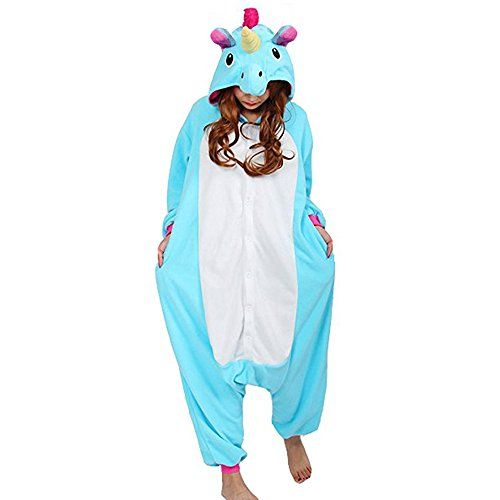 Pyjama Licorne Unicorne Animaux Adulte Unisexe Aminal Pyjamas Combinaison Pyjama Déguisement Costume Ensemble Pyjama Panda Dinosaure: Doux…