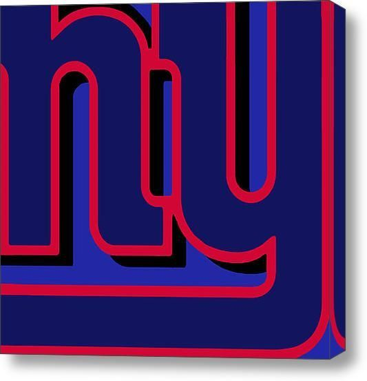 New York Giants Football on Stretched Canvas by RubinoFineArt, $70.00