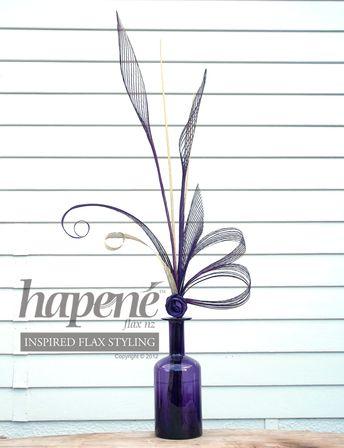 Purple Hapene Flax Centrepiece