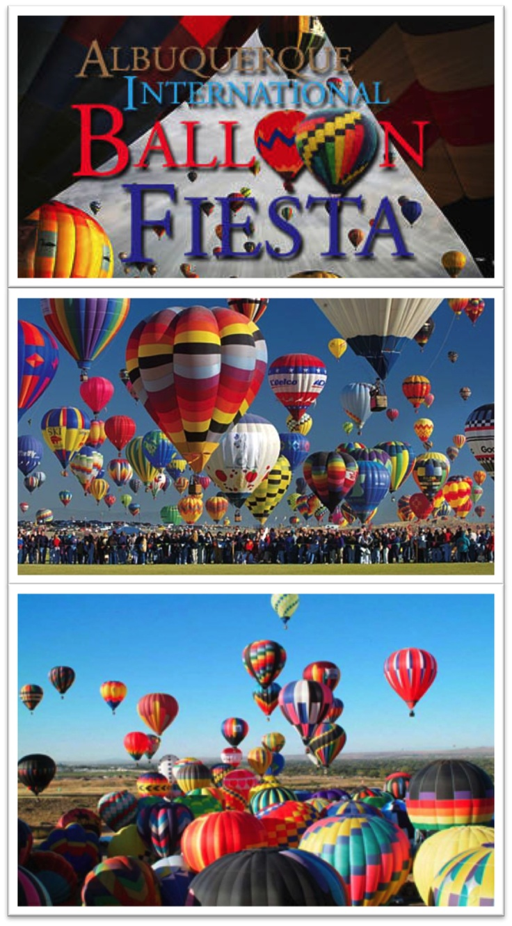 The Albuquerque International Balloon Fiesta is a yearly festival of hot air balloons that takes place in Albuquerque, New Mexico, USA during early October. The balloon fiesta is a nine day event, and has around 750 balloons. The event is the largest hot air balloon festival in the world. #HotAirBalloons