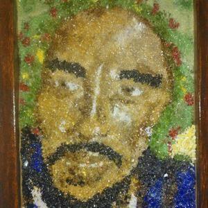 Bob Marley Crushed Glass Design by IMAIN