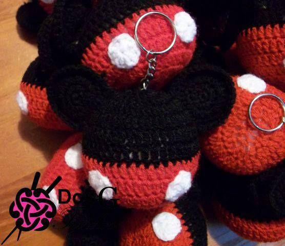 Amigurumi De Mickey Mouse : Llaveros Mickey Mouse Souvenirs Dos G tejidos ...