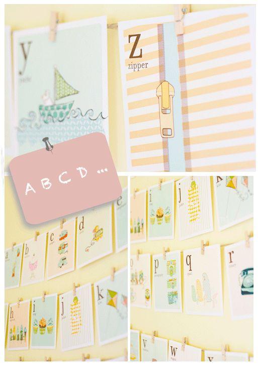 Celebraciones Caseras: láminas abecedario - imprimible gratis