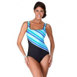 Reebok Lifestyle Stripe It Rich Tank Swimsuit #sportswear #swimsuit  #fashion #swim