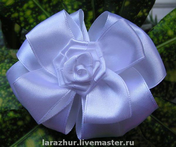 """Купить Бантики """"Принцесса"""" - цветы ручной работы, резинка для волос, детские украшения"""