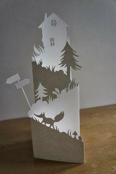 découpe de papier - Mahaut Lemoine (France) *next years christmas cards!