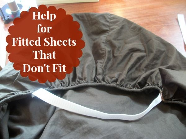 Fitted Sheet Fix for sheets that keep coming off during the night. http://saving4six.com/2014/10/help-for-fitted-sheets-that-dont-fit.html