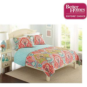 Better Homes and Gardens Quilt Collection, Jeweled Damask. I saw this in Walmart...So pretty! If I didn't have mine, I would definitely consider this one!