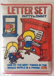 Vintage Sanrio Patty and Jimmy Letter Set